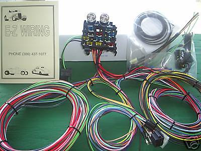 ez wiring 12 mini wiring harness chevy ford mopar hotrods ez wiring 12 circuit standard panel wiring harness