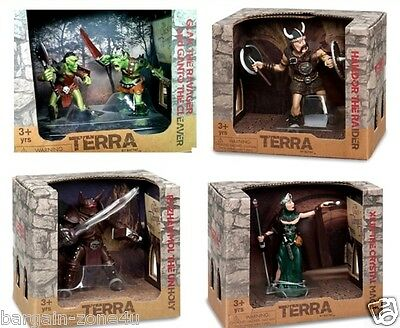 Terra by Battat Fantasy Vintage American Fighting Figures Characters Play Set