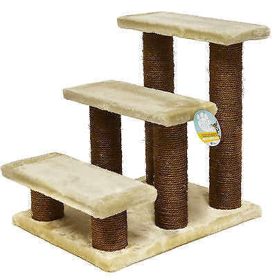 Me & My Beige Pet Stairs Dog/cat/puppy Steps/ramp Car/sofa Soft Climb/lift Aid