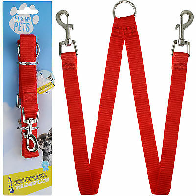 Me & My Red Twin/2 Way Double Dog Lead Splitter/coupler/extender Walk Two Dogs