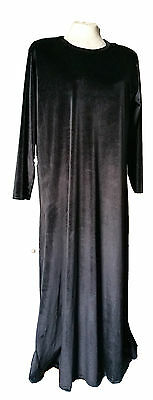 Latest Ladies Womens Plain Velvet Jubbah Dress Jubba Abaya Abayah Farasha Eid