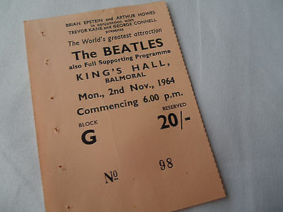 BEATLES Original      1964      CONCERT Ticket STUB - Balmoral, Ireland