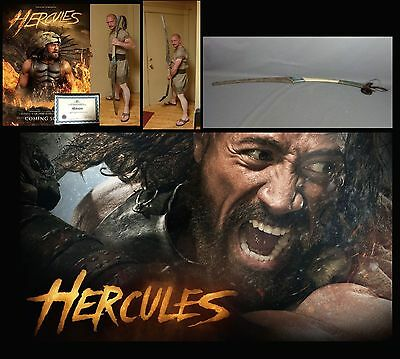 Screen used - Hercules - The Rock - 2 handed long sword - with COA from VIP
