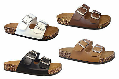 New Ladies' Classic 2 Buckles Straps Sandal Thong Flip Flop Soft Footbed**Revo-1