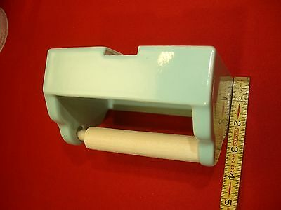 Vintage- Glossy- Greenest- Ceramic... NOS...1.5 inches recessed  paper holder