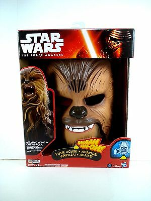 STAR WARS THE FORCE AWAKENS CHEWBACCA ELECTRONIC TALKING MASK FREE SHIPPING New!