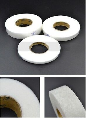 Double Sided Adhesive Tape Fusible Interlining White Iron On DIY Fabric Sewing