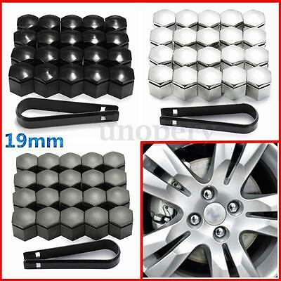 20pc 19mm Wheel Nut Bolt Cap Cover Protector For Vauxhall Opel + Romove Tool Key
