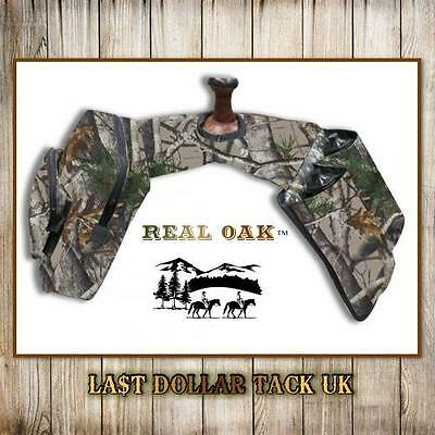 Western Saddle Horn Bags Insulated With 2 Water Bottles - By 'real Oak' - Camo