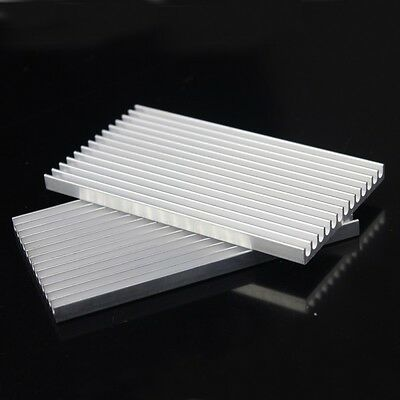 HQ 100mm 100x55x6mm Electronics Computer equipment IC Chipes Aluminum Heatsink