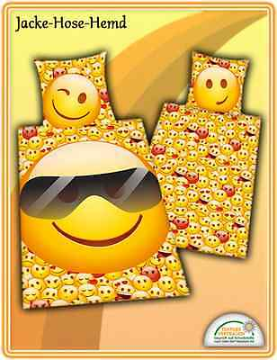 Bettwäsche Emot!x 135x200cm Icon Keep smiling Smiley Emotix Sonnenbrille NEU