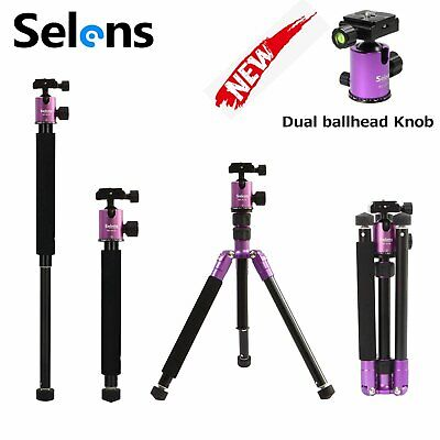 """Selens 62"""" T-170 Tripod & Monopod with Ball Head for DSLR Camera Supports purple"""
