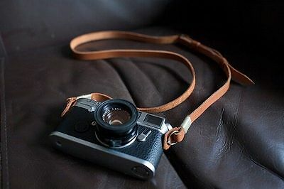 Handmade Real Leather camera strap neck strap for film camera EVIL camera 01-082