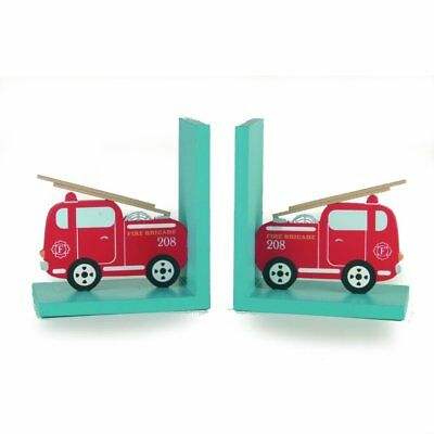 Fire Engine Wooden Bookends - Gift / Childs Bedroom