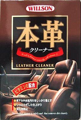 WILLSON Real (Authentic) Leather Cleaner foam spray 02041 JP New