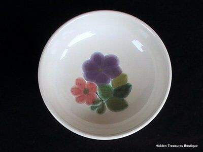 Franciscan Earthenware Floral Soup Cereal Bowl Green Band Beautiful (A)