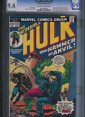 Incredible Hulk # 182 CGC 9.4  Off White to White Pages. UnRestored.