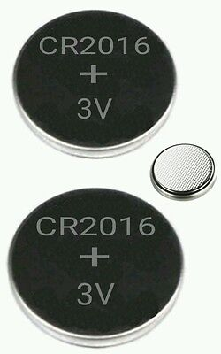 2 Pcs Cr2016 Lithium Coin Cell 3V Battery Car Key Toys Fobs Remote Batteries
