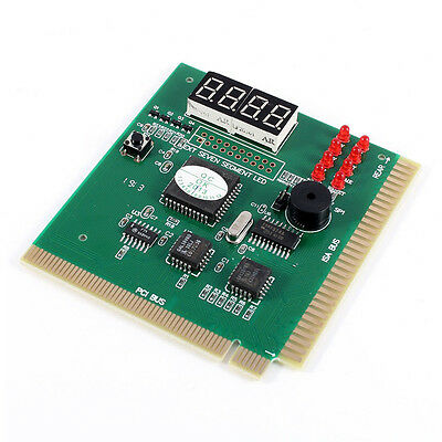 PC Motherboard Diagnostic Card 4-Digit PCI/ISA POST Code Analyzer DT