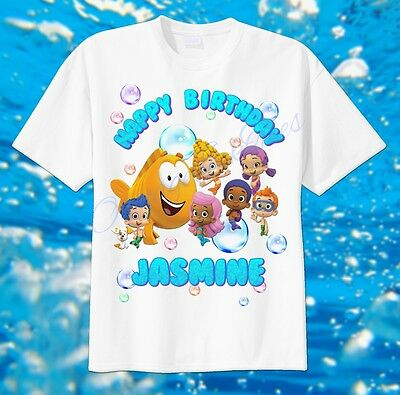 Bubble Guppies Group Custom T-shirt PERSONALIZE tshirt Birthday gift, Tee