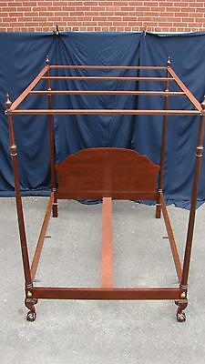 Baker Historic Charleston Clawfoot Mahogany Canopy Bed Queen Size