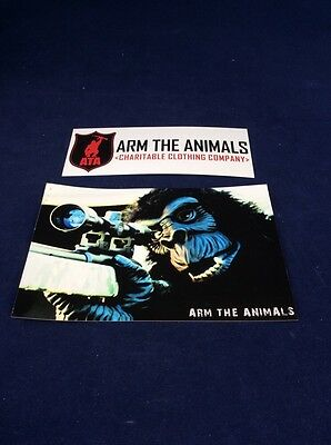 "Arm the Animals HARAMBE GORILLA SNIPER Sticker 4"" X 6"" Animal Rights FREE SHIP"