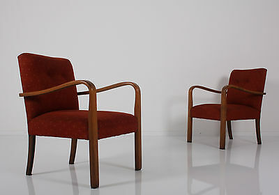SET of 2 ART DECO EASY CHAIR chairs 2 X fauteuil fauteuils poltrona poltrone