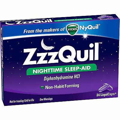 ZzzQuil Nighttime Sleep-Aid LiquiCaps, 24 count