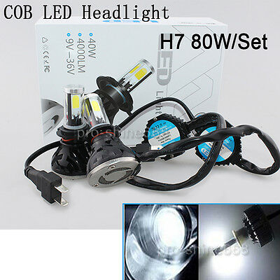 6000K Crystal White SoCal-LED 2X 4S H13 9008 Hi//Lo Headlight Bulbs LED Conversion Kit 80W 8000LM COB LED Bulb 4-Sided Light