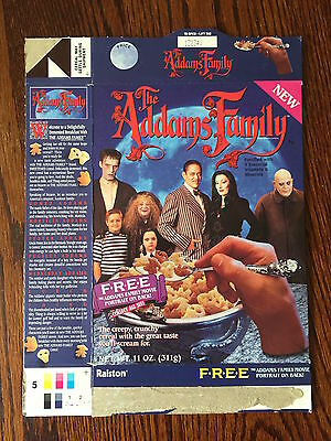 Ralston 1990's The Addams Family Cereal Box Haunted House  Classic TV Show RARE