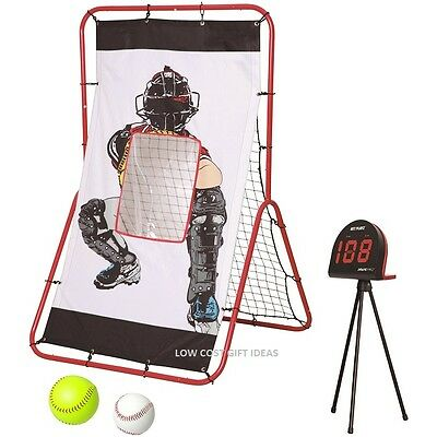 BASEBALL PITCHER TARGET PRACTICE & SPEED RADAR  Ball Pitching & Catching Trainer