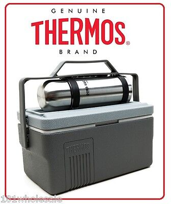 ❤ Thermos Lunch Lugger 6.6L Insulated Cooler Box + 1L Stainless Steel Flask ❤