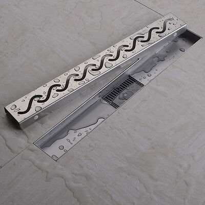 S Style Stainless Steel Linear Shower Drains With Curved Flange 50-100cm