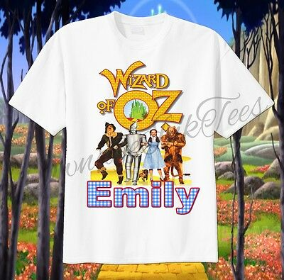 Wizard of OZ Custom T-shirt PERSONALIZE Birthday gift ADD NAME