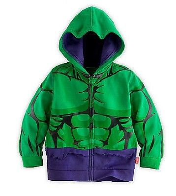 Super Heroes Hoodie Hulk jacket zipped boys girls kids avengers