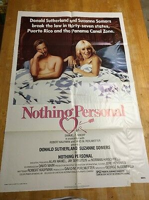 Nothing Personal 1980 One Sheet Movie Poster (Donald Sutherland)