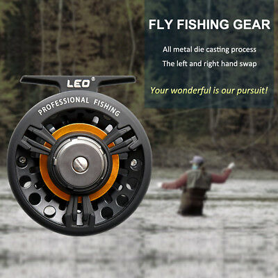 LEO Large Casting Aluminum Fly Reel Righ/Left Hand Rafting Ice Fly Fishing Wheel