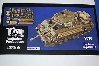 Verlinden Productions 2834 - Fury Stowage Tamiya M4A3E8  scala 1/35