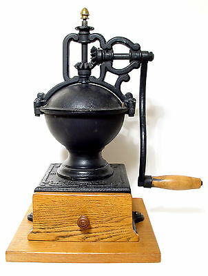 Peugeot & Cie Coffee Mill No 1   1930's Cast Iron French Coffee Grinder/Mill.