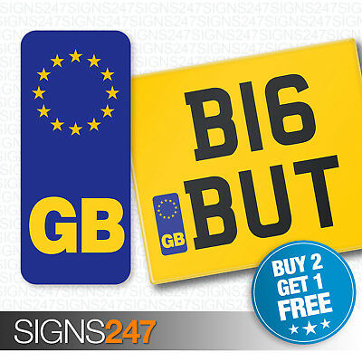 GB NUMBER PLATE STICKER For Motorcycles / Motorbikes EU European Vinyl Sticker