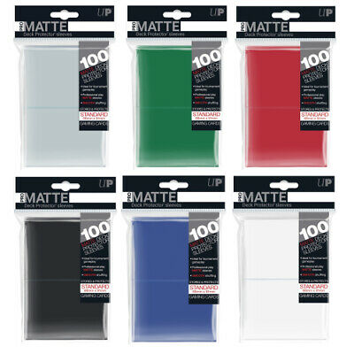 100 x Pro Matte Deck Protectors Standard Ultra Pro Trading Card Sleeves Choose