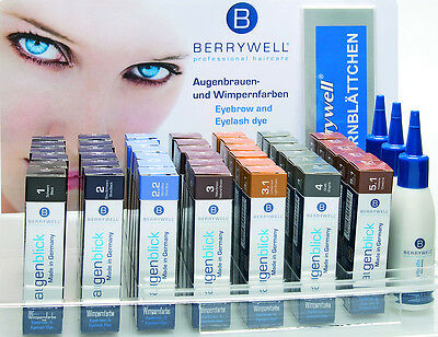 2X Berrywell Professional Eyebrow & Eyelash Tint Cream Dyes 15ml/Oxidant Liquid