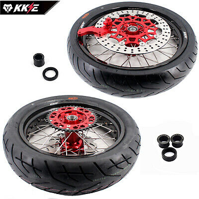 Honda Supermoto Motard Wheel Rim Set Crf250X Crf450X Crf 450X  Sprocket Tire
