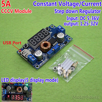 LED DC-DC Constant Current Voltage Buck Step Down Converter 3.3V 5V 12V 24V 5A