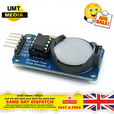 DS1302 Real Time Clock Module RTC Board For Arduino *INCLUDING BATTERY*