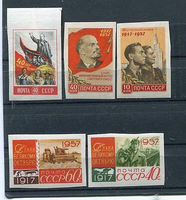 Russia Yr 1957,sc 1998A-2002A,mi 1995B-99B,mnh,imperforated,october Rev,variety