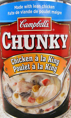 CAMPBELL'S CHUNKY CHICKEN A LA KING - READY TO SERVE - 3  LARGE CANS - 1620 ml