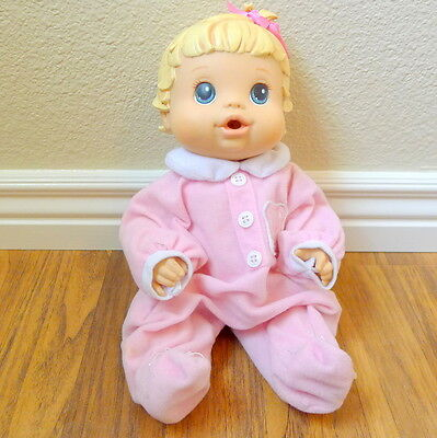 2008 Hasbro Baby Alive Drink and Wet Blonde Molded Hair