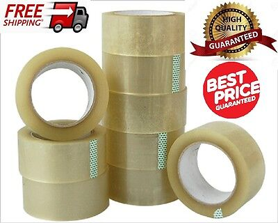 36 BIG Rolls Of CLEAR STRONG Parcel Tape Packing sellotape Packaging 48mm x 66m