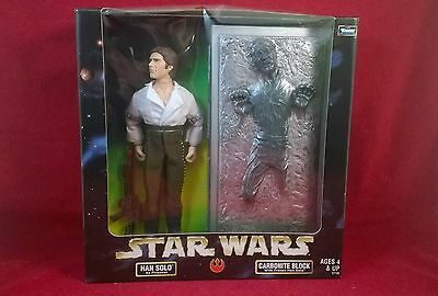 """Star Wars 12"""" Figure Han Solo Frozen in Carbonite, Action Collection 1998, MIB"""